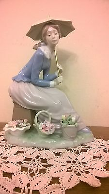 "Lladro/nao Very Rare ""flowers From My Garden""  Girl Figurine 0419 Retired"