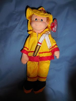Ty Brave Buddy firefighter Teenie Beanie Bopper doll teenie  new with tags