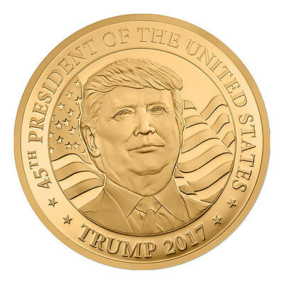 2017 Equatorial Guinea Donald Trump 1/10 oz Gold Proof 3000 Fr. PRESALE SKU45782