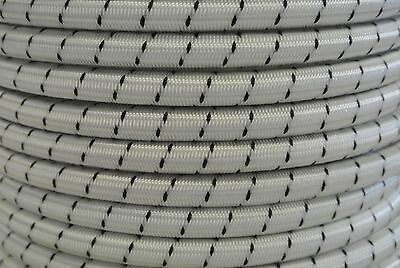 8mm 10mm Shock Cord Elastic Bungee Tie Down Rope White Fleck Boat Trailer Covers