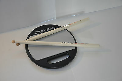 Ahead 10 Inch Practice Pad with Snare Sound + Vic Firth Drum Sticks
