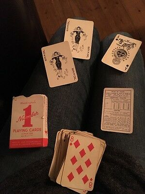 Vintage Waddington's No 1 red playing Cards