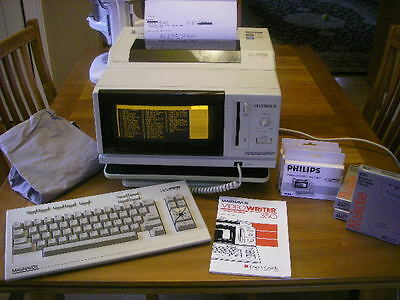Magnavox Videowriter 350 Word Processor, Keyboard, Manual, Ribbons, Stand, Cover
