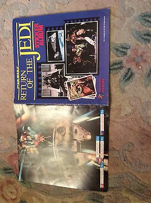 Star Wars Return Of The Jedi Sticker Album - Vintage Panini 1983