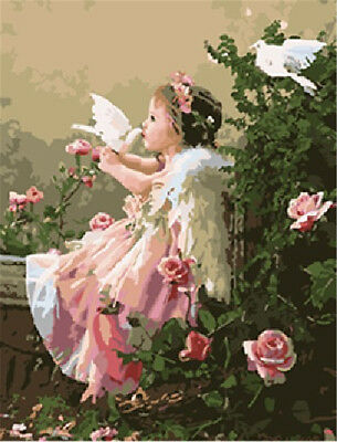 "16X20"" Paint By Number Kit DIY Acrylic Painting on Canvas Angel 1093"