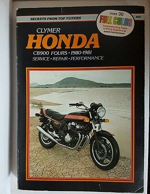 Clymer Honda Motorcycle CB900 FOURS 1980-81 Service, Repair, Performance Manual