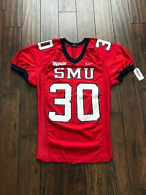 Nike SMU Mustangs Authentic Game Jersey Large Red #30