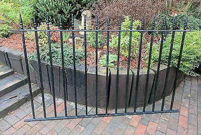 10x 4ft wrought iron railings fence