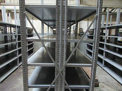 Lot of 8 Penco Heavy Duty Metal Shelving Sections Total 288 SQF See Description