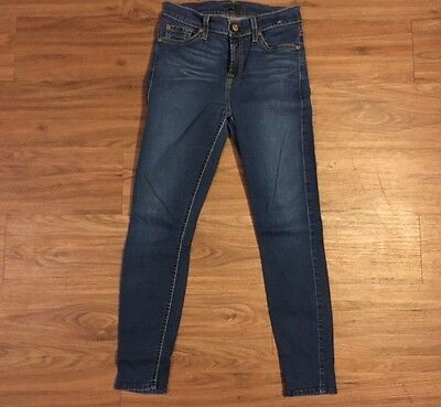7 For All Mankind Women Jeans Super Skinny 26 X 25
