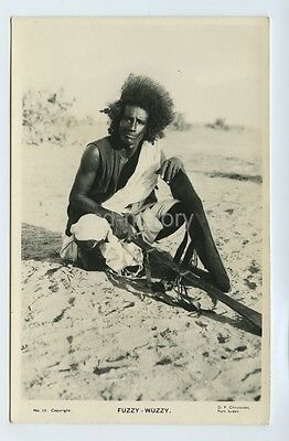 Tribesman From Sudan -  Postcard Africa