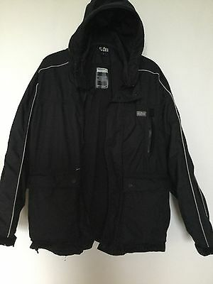 Gill Pilot Jacket Waterproof Breathable Fleece Lined Quilted Arms Size Small