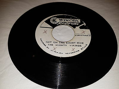 The Mighty Vikings - Get On The Right Side Rare Wincox Ska 45 Coxsone