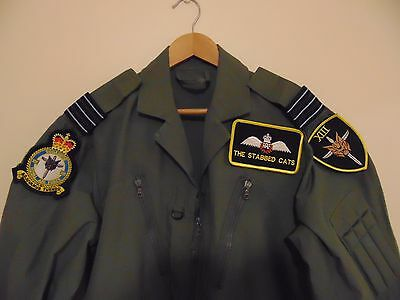 RAF Flying Suit Badged Wing Commander 13 Sqn '' The Stabbed Cats ''
