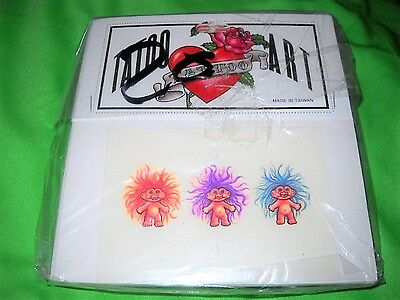 Vintage 1991 Troll Doll, Lot Of 20 Brand New Sealed Temporary Tattoo's!