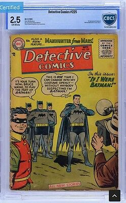Detective Comics #225 Cbcs 2.5 Not Cgc First Martian Manhunter Ow Pages!