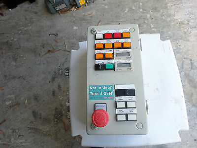 MACHINE CONTROL PANEL, 150x300 Steel enclosure Buttons Counters E-Stop and more