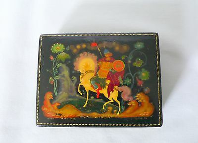 Vintage Russian PALEKH 1973  Lacquer Box  Signed & Numbered Gribov N.