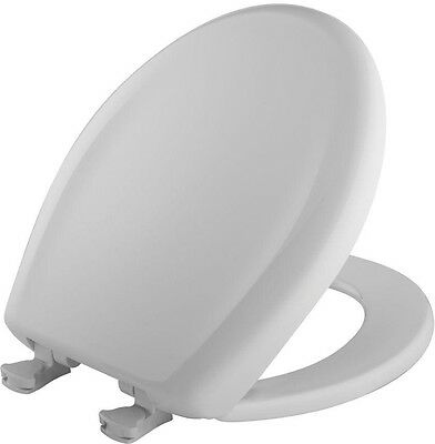 Round Closed Front Toilet Seat White