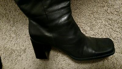 "Womens Capezio ""ANDREA""  Black Knee High Fashion Boots Size 10M"