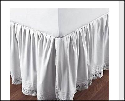 Be-You-Tiful Home Bella Crochet Bed Skirt Queen Size Ivory