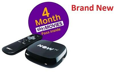 Brand New NOW TV Box with 4 Month Cinema Pass