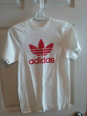 Vintage Adidas Red Trefoil T-shirt - Size 16 (Youth)  (#2 of 2)