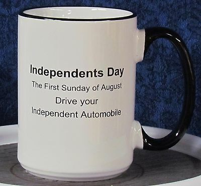 Independents Day - Nash on a 15 oz Coffee Mug with Black Handle & Rim