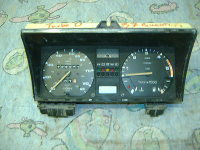 VW Quantum turbo diesel instrument cluster with tach 83 - 87 yr