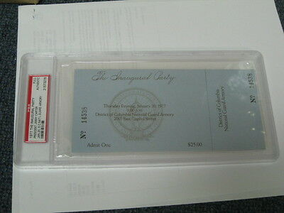 """1/20/77J. Carter """"The Inauguration Party"""" full ticket for DC PSA"""