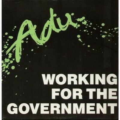 """ADU Working For The Government 12"""" VINYL UK Modtone 1985 3 Track B/W Iou"""