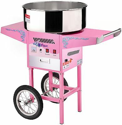 Great Northern Popcorn Commercial Cotton Candy Machine Floss Maker With Cart