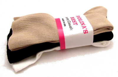 Women Soft Cotton Trouser Casual Crew Socks Size 9-11 3 6 9 Pairs