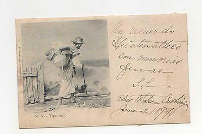 Tipo Indian of Guatemala  Collotype Postcard Posted 1899