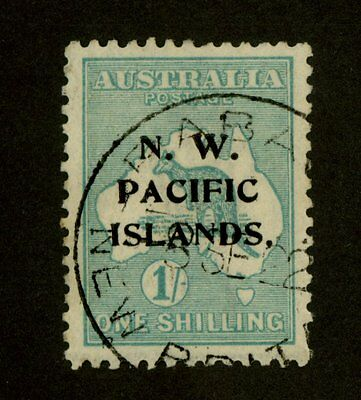 North West Pacific Islands, 1919 1 Shilling, Sc. #34 var., SG #113a, Used