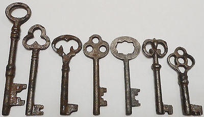 Antique Vintage REPRODUCTION Old Skeleton Keys SteamPunk Jewelry {Lot of 7}-