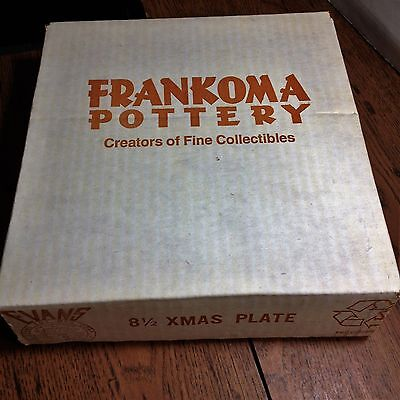 Frankoma Pottery-1996 Christmas Plate-Original Box-Factory Sealed/Never Opened