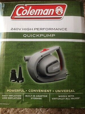 Coleman Quickpump 240V High Performance Air Pump