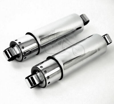 "Ultima Chrome Covered Lowering Lowered Shocks Absorbers W Covers 11"" Inch Harley"