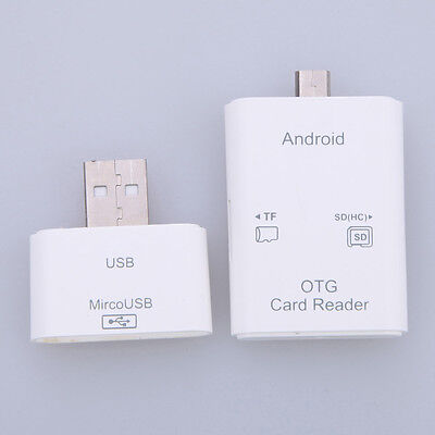 3 in 1 Micro USB 2.0 Type C TF Micro SD OTG Flash Memory Card Reader for Android