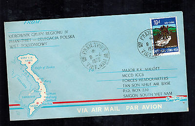 1973 Poland Cover MCCD ICCS Army in Vietnam Military