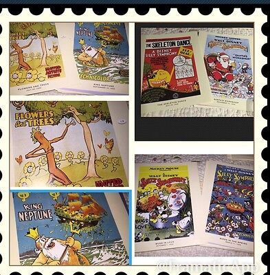 Disney 30s Poster Book Plate Silly Symphony 9 Mini Poster Book Prints See Info