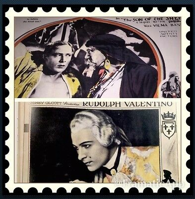 """Valentino """"the Son Of The Sheik"""" Lobby Card Book Plate One Only 6 X 9"""