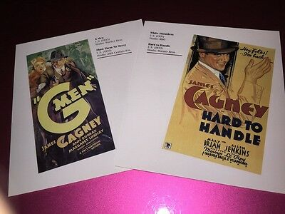 Cagney G Men & Hard To Handle +scarface & The Wild Party Mini Poster Bookplates