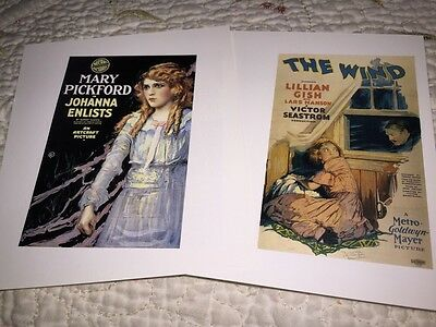Pickford & Gish 2 Book Poster Prints The Wind Johanna Enlists + Lawyer Man +