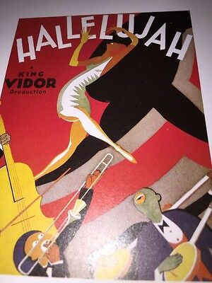 Hallelujah all Black cast Mini Poster Bookplate Only 1 + Dixiana @ Bac