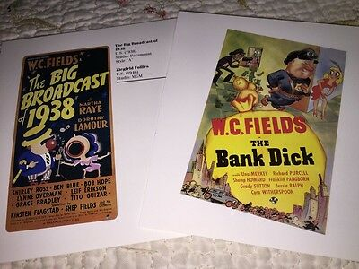 W C FIELDS movie Poster Book Print  The Big Broadcast Of 1938 & The Bank Dick +