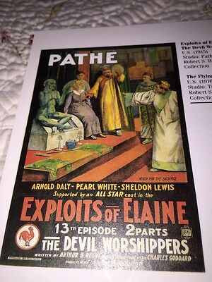 Silent Movies era great graphics Poster Book Print Pathe Triangle Etc