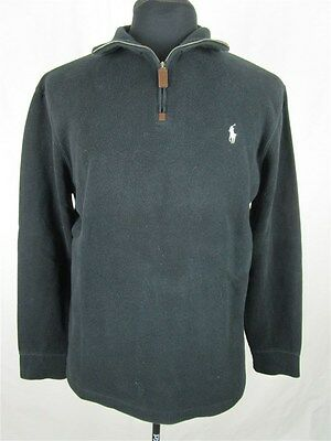 Polo By Ralph Lauren Men's sz M Black Cotton Long Sleeve Pullover Sweater