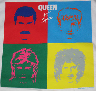 Queen Hot Space _RARE_ XL Red RINGER shirt vtg Concert Rock tour t-shirt lp art